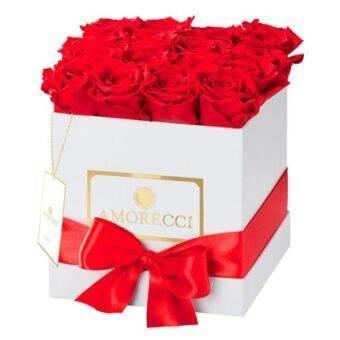 rosas importadas en caja blanca
