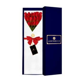 caja rosas rojas Amorecci 2021