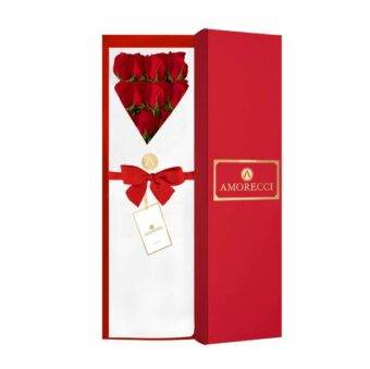 caja de rosas elegantes