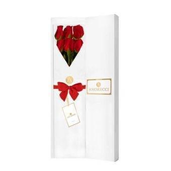 caja blanca Amorecci con rosas