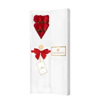 caja blanca con rosas Amorecci