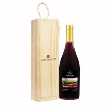 estuche madera vino Amorecci