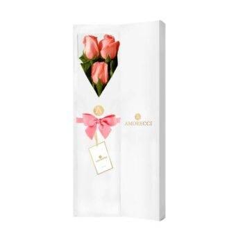 Flores en caja blanca
