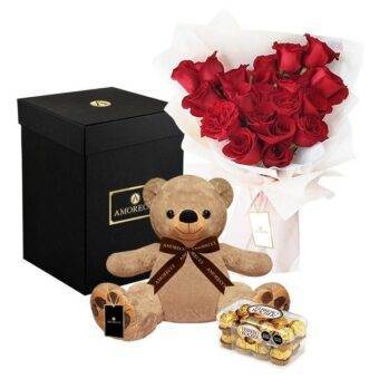 chocolates con rosas rojas amorecci