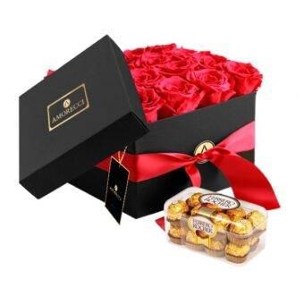 Chocolates y rosas Amorecci