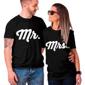 polos para parejas en color negro
